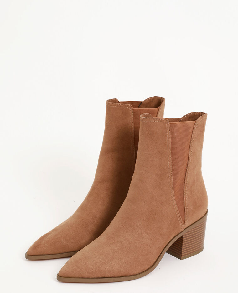 Boots style western marron