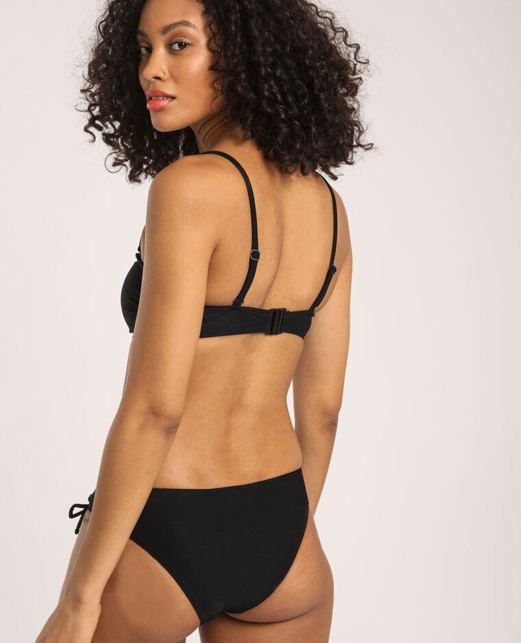 Haut de bikini texturé noir