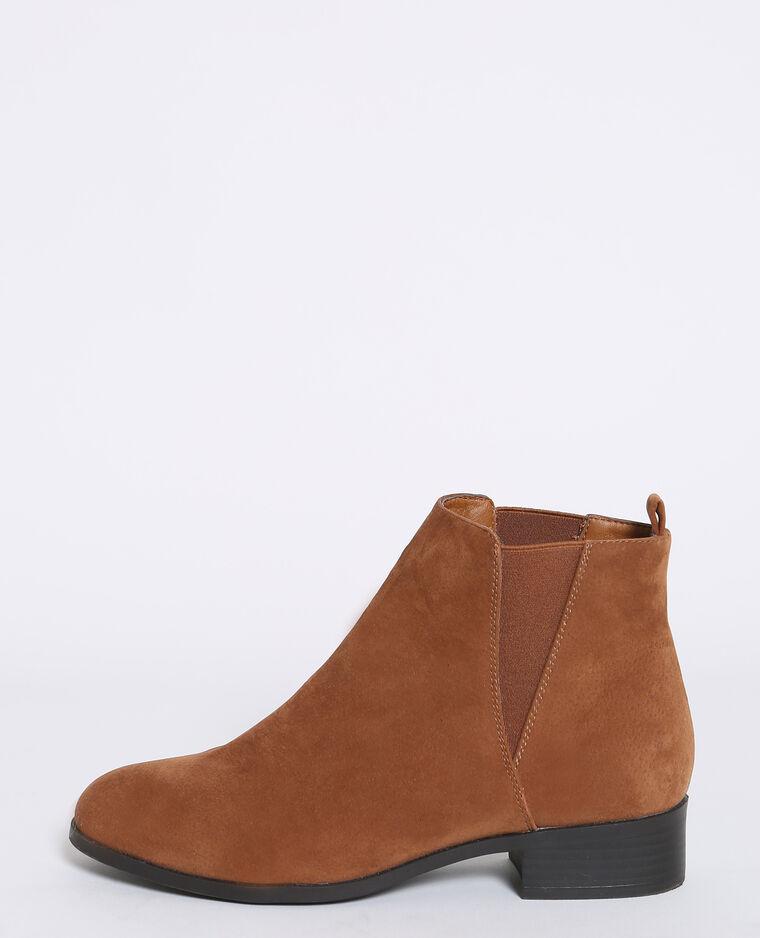 Boots chelsea marron