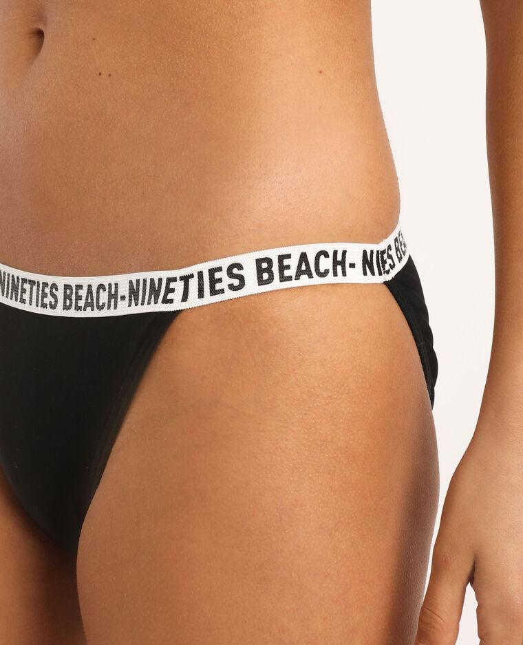 Bas de bikini sporty noir