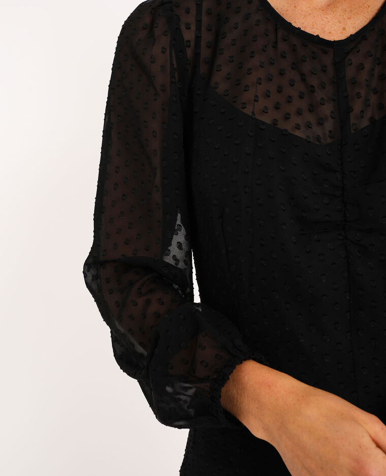 Robe big plumetis noir