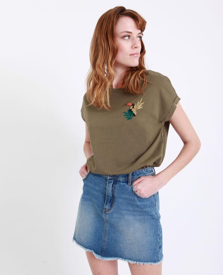 T-shirt toucan kaki