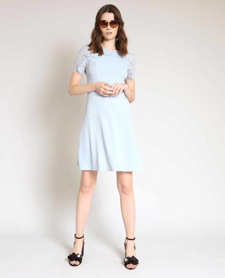 Robe dentelle bleu