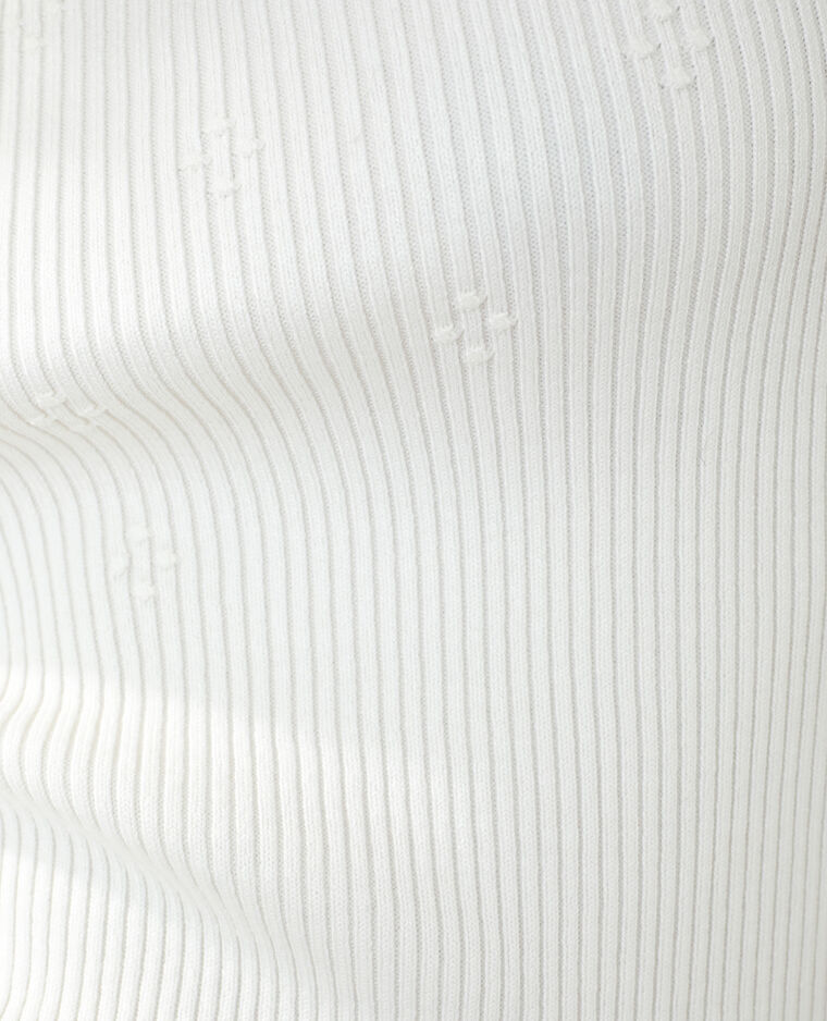 Top côtelé blanc cassé - Pimkie