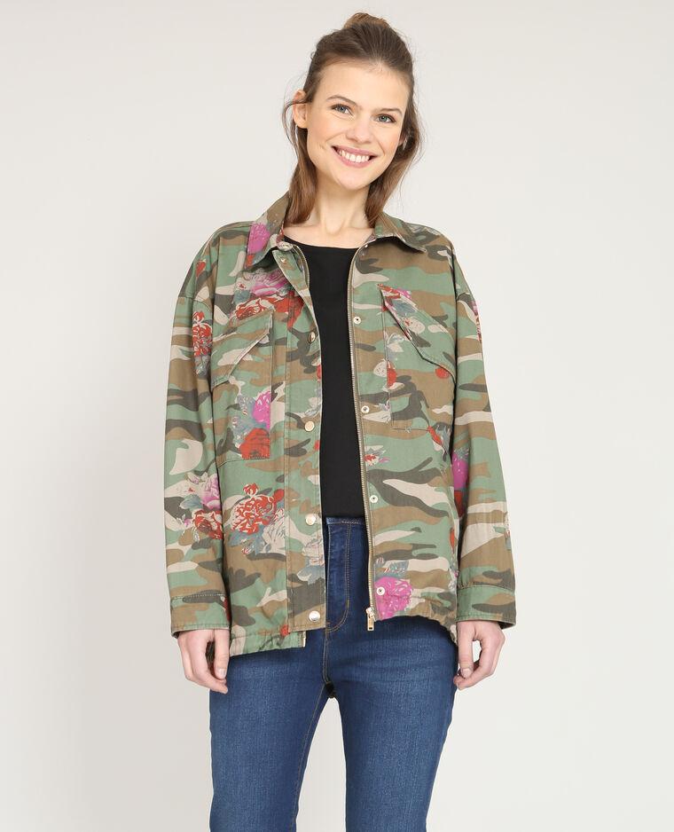 Veste army camouflage kaki - Pimkie