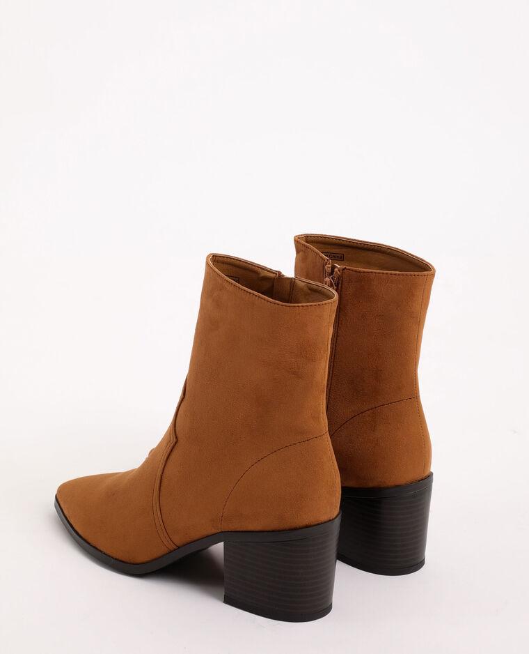 Boots western en suédine beige sable - Pimkie