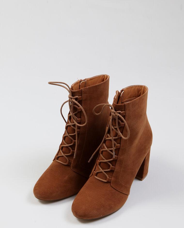 Bottes à lacets marron