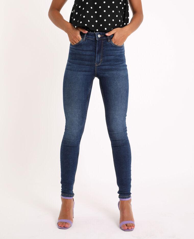 Jean skinny high waist bleu brut