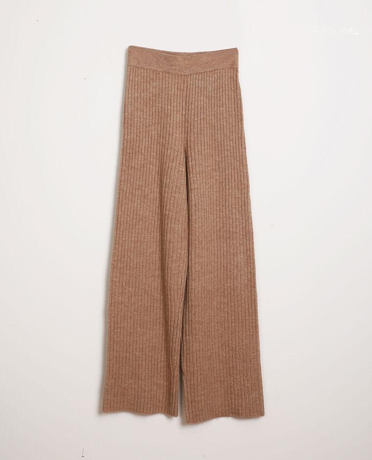 Pantalon tricot beige - Pimkie