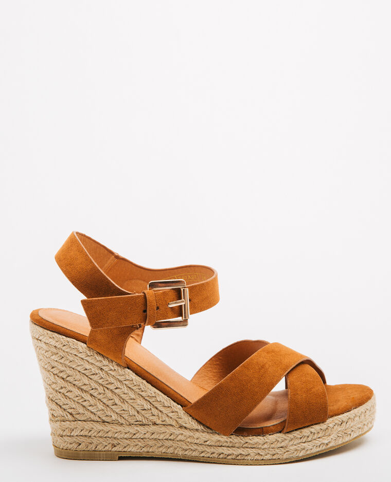 Sandales compensées marron - Pimkie