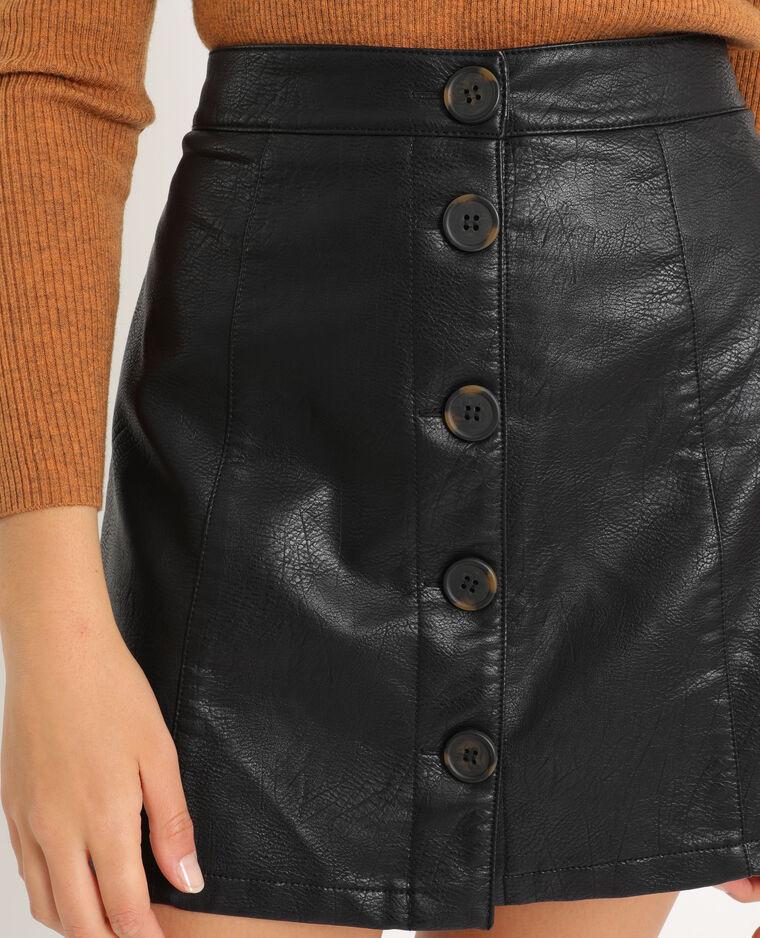 Jupe en simili cuir noir