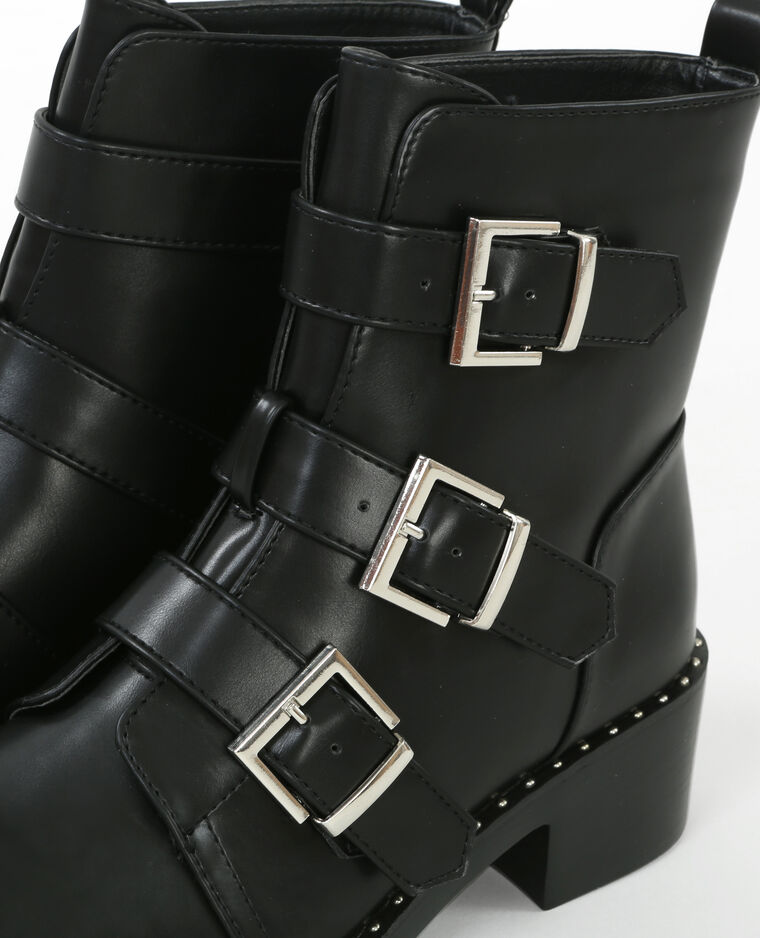 Bottines multi straps noir