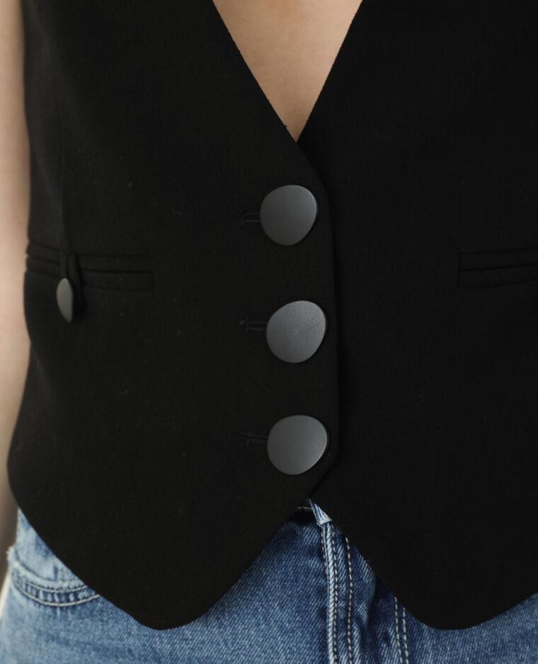 Gilet de costume à épaulettes noir - Pimkie