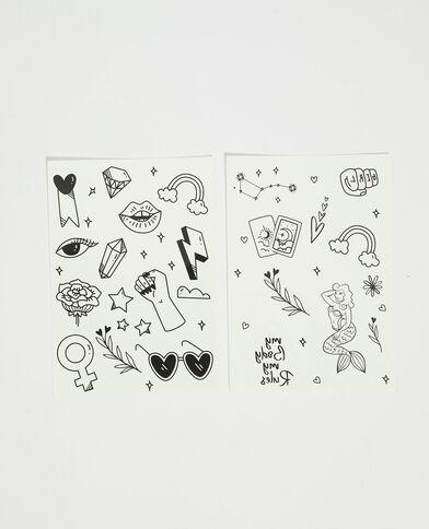 Lot de 2 planches de tatouages noir - Pimkie