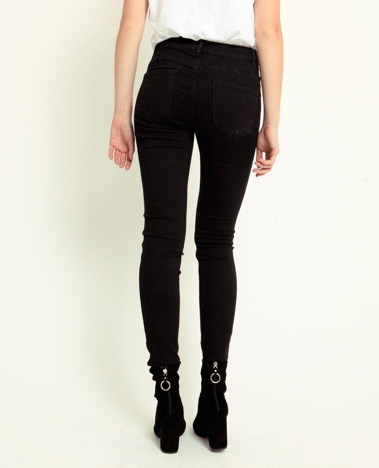 Jean push up mid waist noir - Pimkie