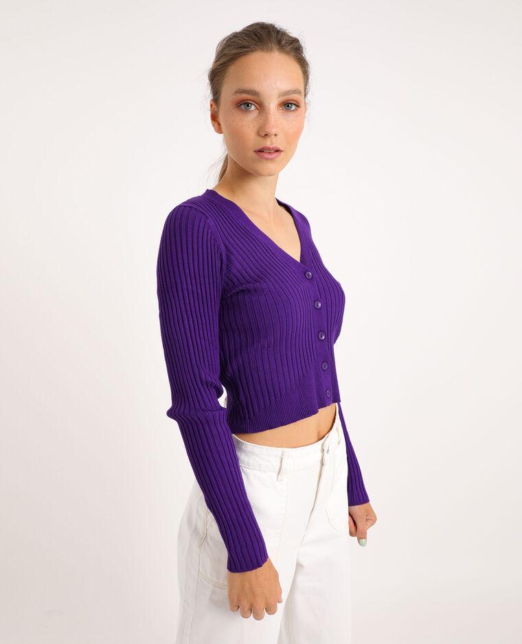 Gilet court violet