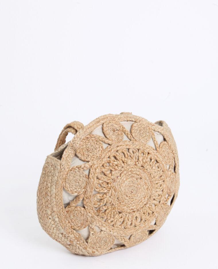 Grand sac en paille beige taupe - Pimkie