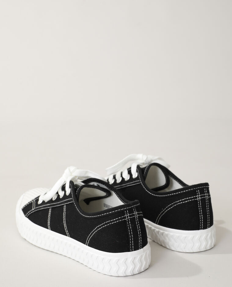 Baskets en toile noir - Pimkie