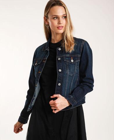 Veste en jean foncé bleu brut - Pimkie