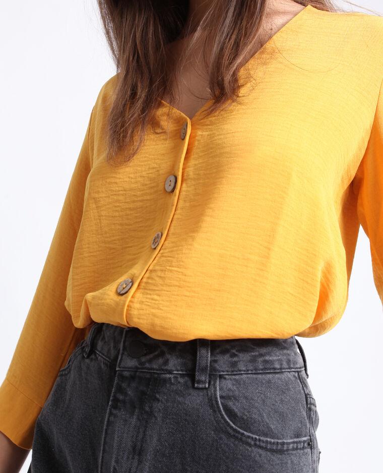 Chemisier à boutons jaune