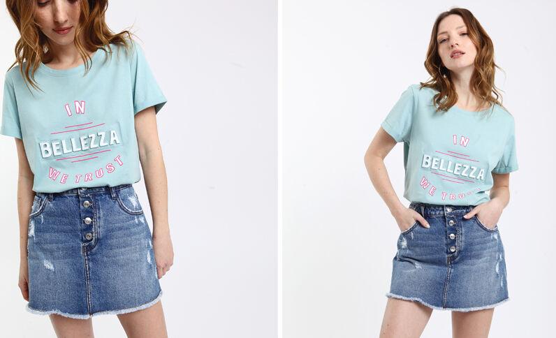 8a36380553c T-shirt imprimé vert d eau