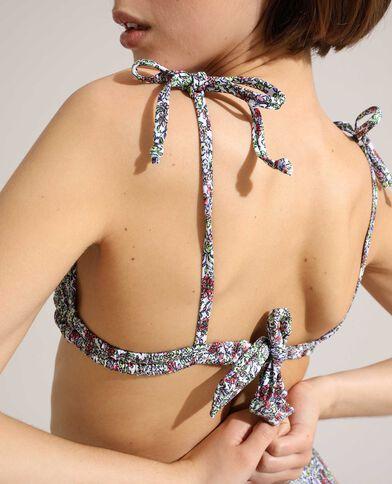 Haut de maillot de bain triangle à fleurs écru - Pimkie