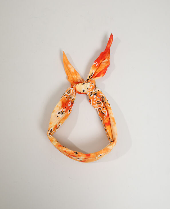 Foulard fantaisie orange - Pimkie