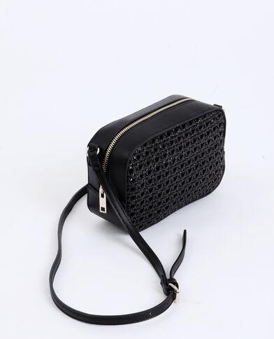 Petit sac tressé noir
