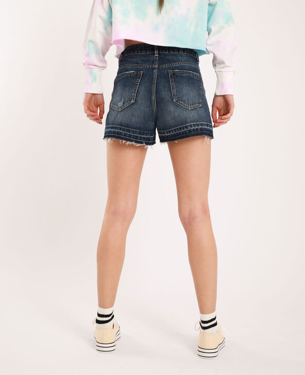 Short en jean raw cut bleu brut - Pimkie