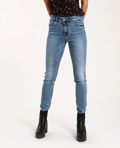 Jean push up mid waist bleu denim