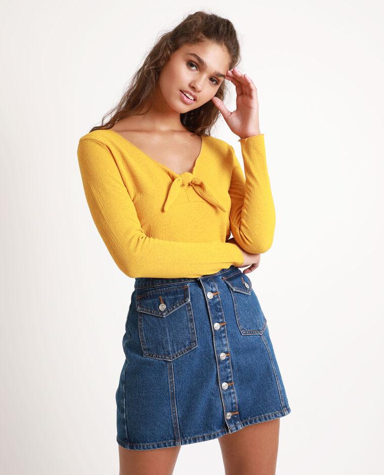 Top à nœud jaune