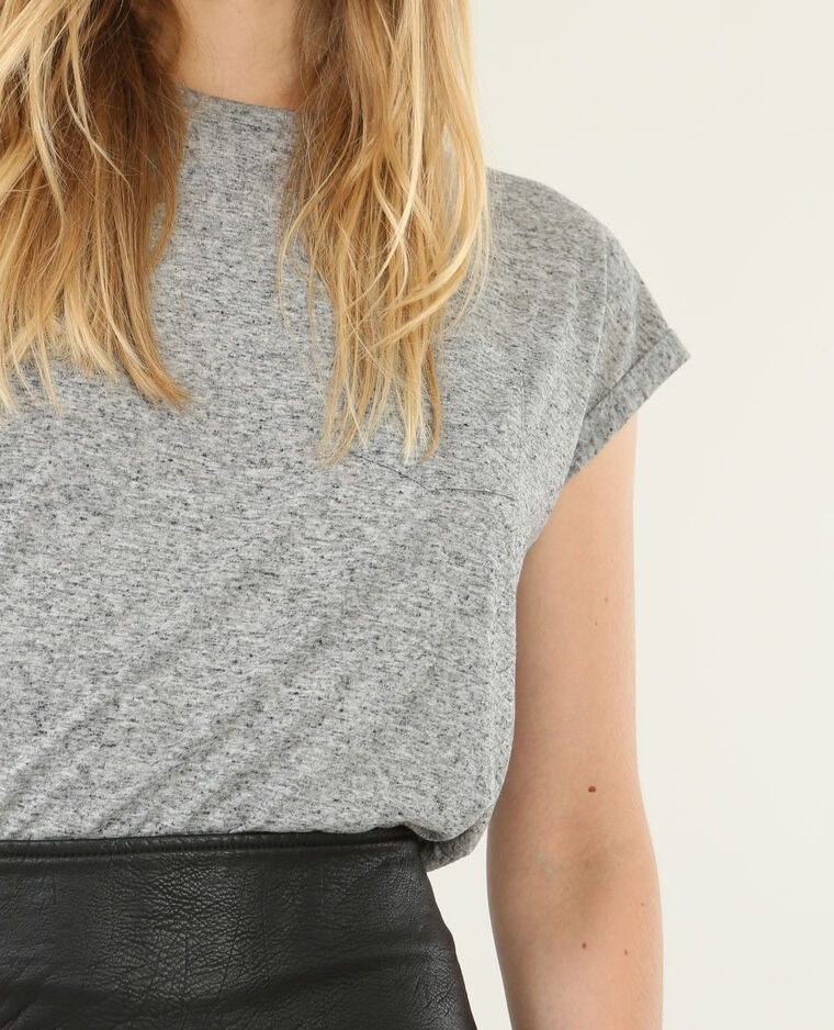 T-shirt à manches courtes gris chiné