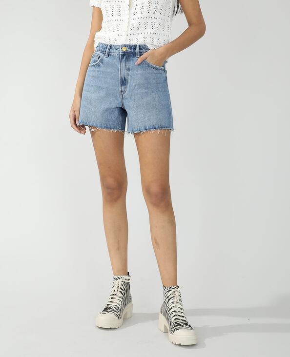 Short en jean destroy bleu denim - Pimkie