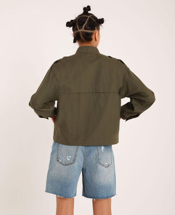 Veste à poches carrée vert