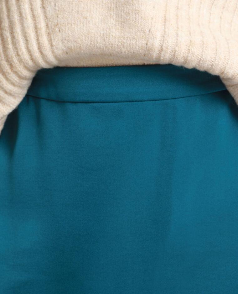 Jupe satinée bleu canard - Pimkie