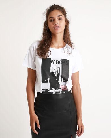 T-shirt Le diable s'habille en Prada blanc - Pimkie
