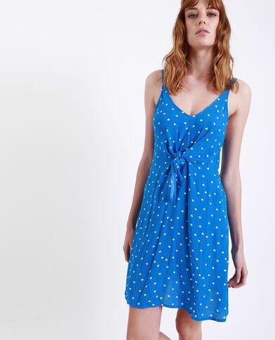 8211e1f47eb Robe à pois bleu