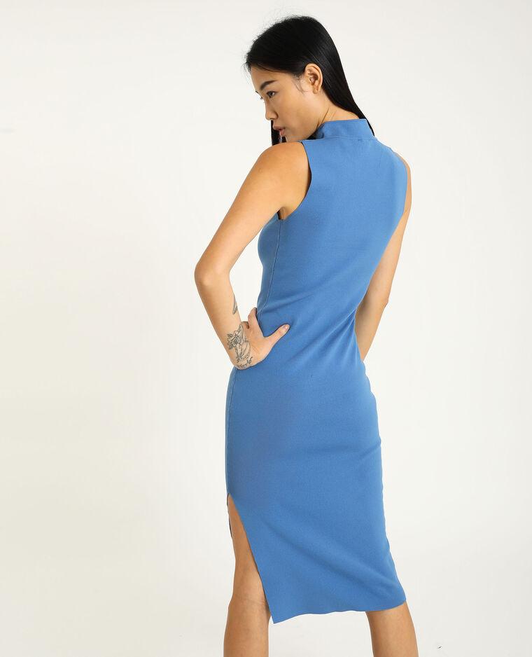 Robe moulante bleu
