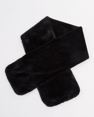 Echarpe fausse fourrure noir