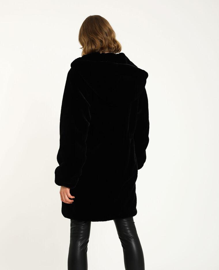 Manteau fausse fourrure noir - Pimkie