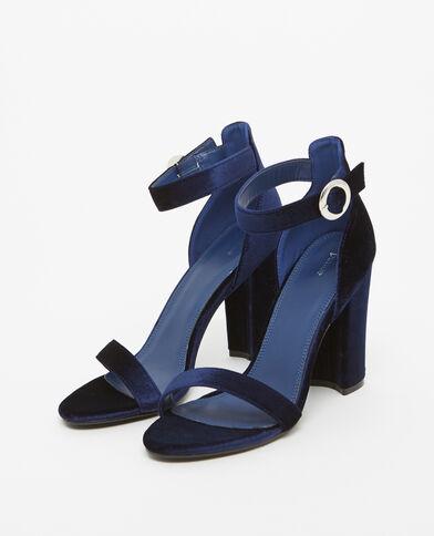 Sandales effet velours bleu - Pimkie