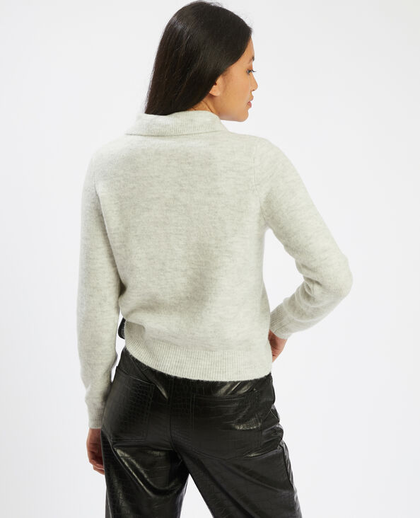 Pull col polo gris - Pimkie