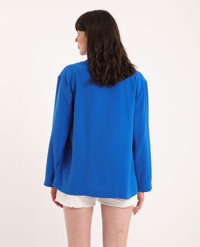 Blazer ample Bleu