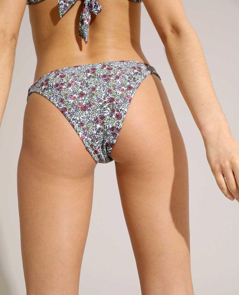 Bas de maillot de bain culotte à fleurs écru - Pimkie