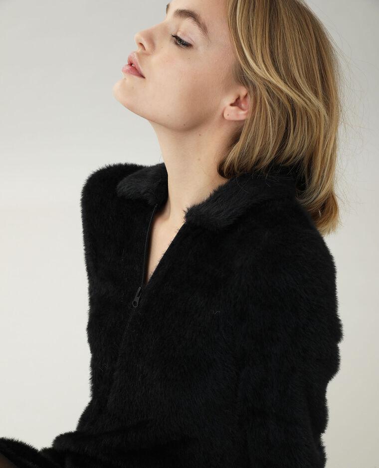 Robe maille poilue noir - Pimkie