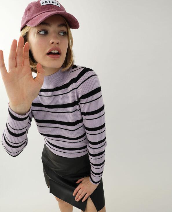 Pull moulant fine côte violet - Pimkie