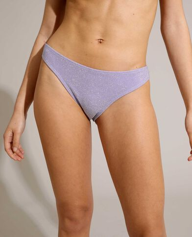 Bas de maillot culotte pailleté violet