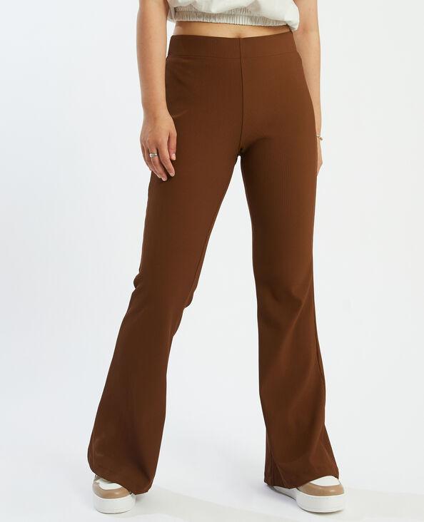 Pantalon flare côtelé marron - Pimkie