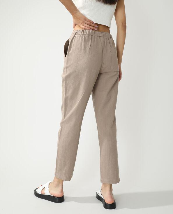 Pantalon jogging droit beige - Pimkie