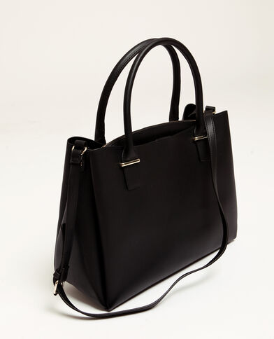 b12cc480c120 Grand sac en simili cuir noir